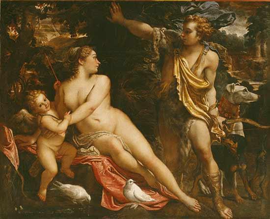 detalle de Pintura del pintor Carracci