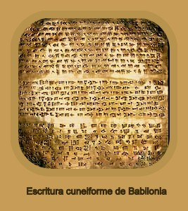 Escritura cuneiforme Babilonia