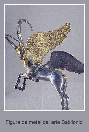 Figura de metal de babilonia