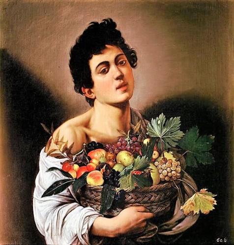 Joven con un cesto de frutas. Caravaggio.