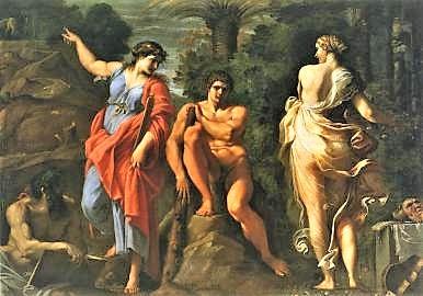 La opcion de Hercules. Annibale-carracci