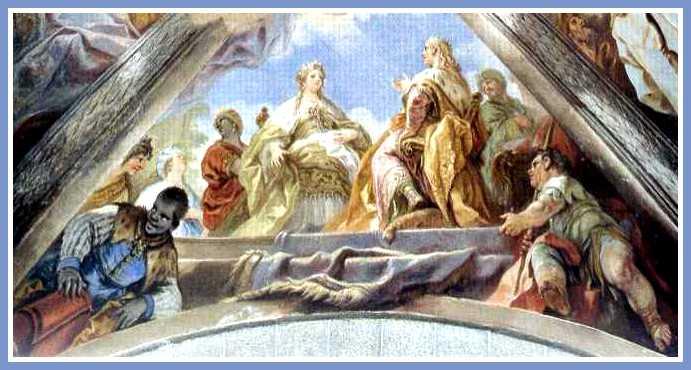 Luca Giordano. Salomón y la Reina de Saba. Bóveda de la Basílica de El Escorial, 1693-94..jpg