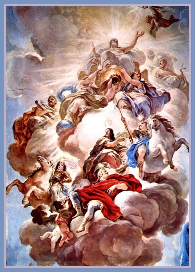 Luca_Giordano. Triunfo de los Medici entre las nubes del Monte Olimpo, fresco en el Palacio Medici Riccardi, 1684-1686..jpg