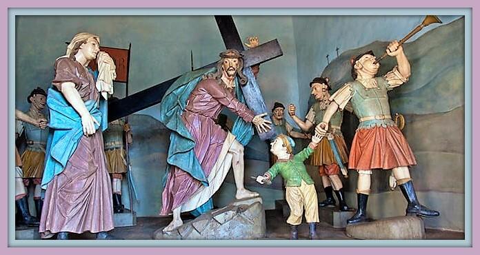 Aleijadinho- grupo escultorico en madera pintada.