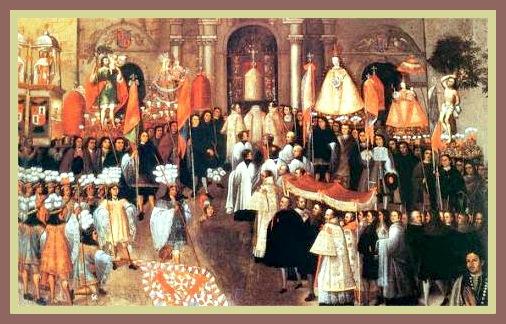 """La Procesión del Corpus Cristi"""". Basilio de Santa Cruz Puma Callao."""