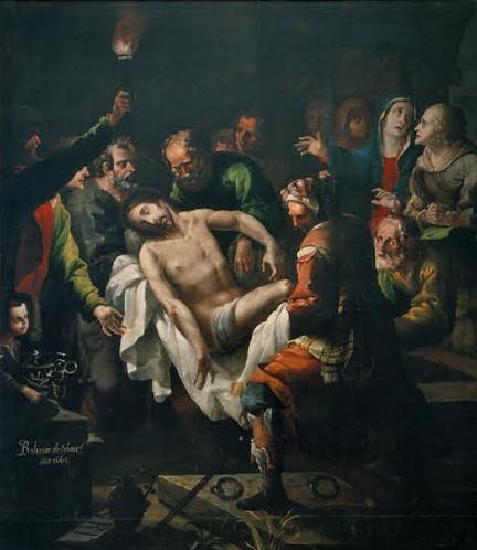 """Entierro de Cristo"". Baltazar Echave Rioja."