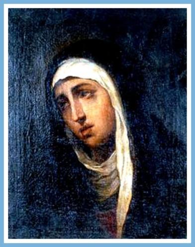 """""""La Virgen"""". por Jose Nicolas de Escalera. pintor cubano."""