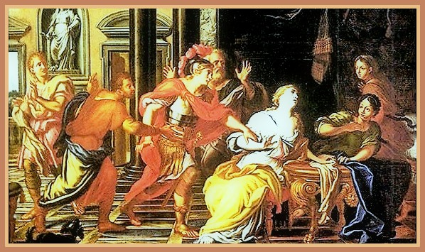 """""""Muerte de Lucrecia."""" José Teófilo de Jesús"""
