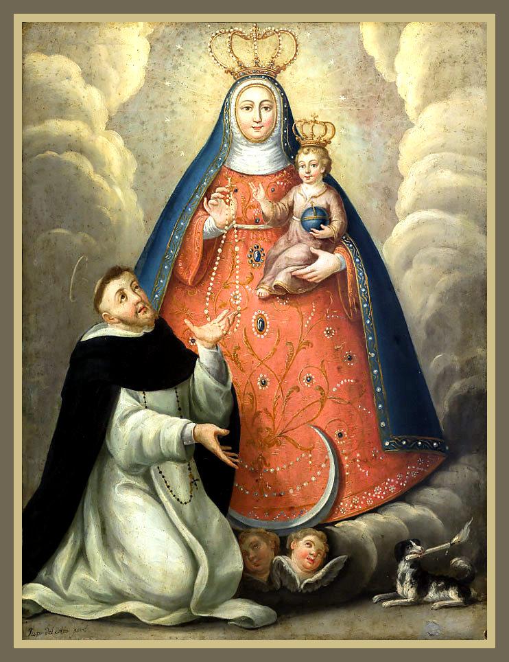 La Virgen del Rosario. pintor cubano Juan del Rio.
