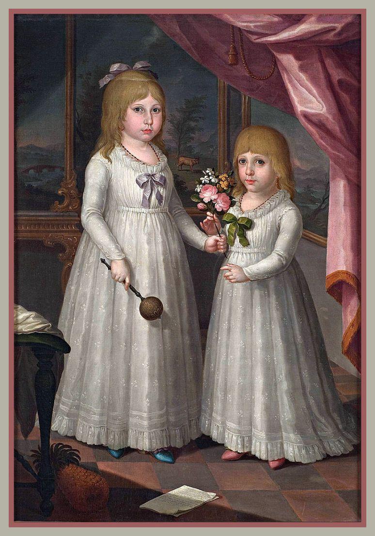 Las hijas del governador Ramón de Castro artista Jose Campeche. (1797)