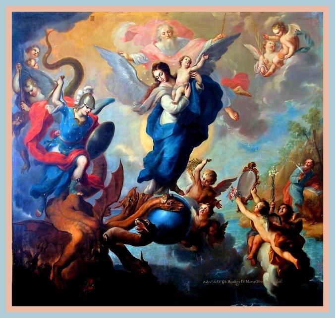"""""""La Virgen del Apocalipse""""Miguel Cabrera. 1760"""