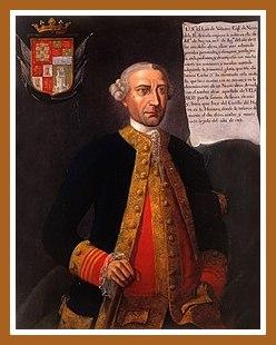 Retrato de Luis Vicente de Velasco. por Jose de Nicolas de la Escalera.