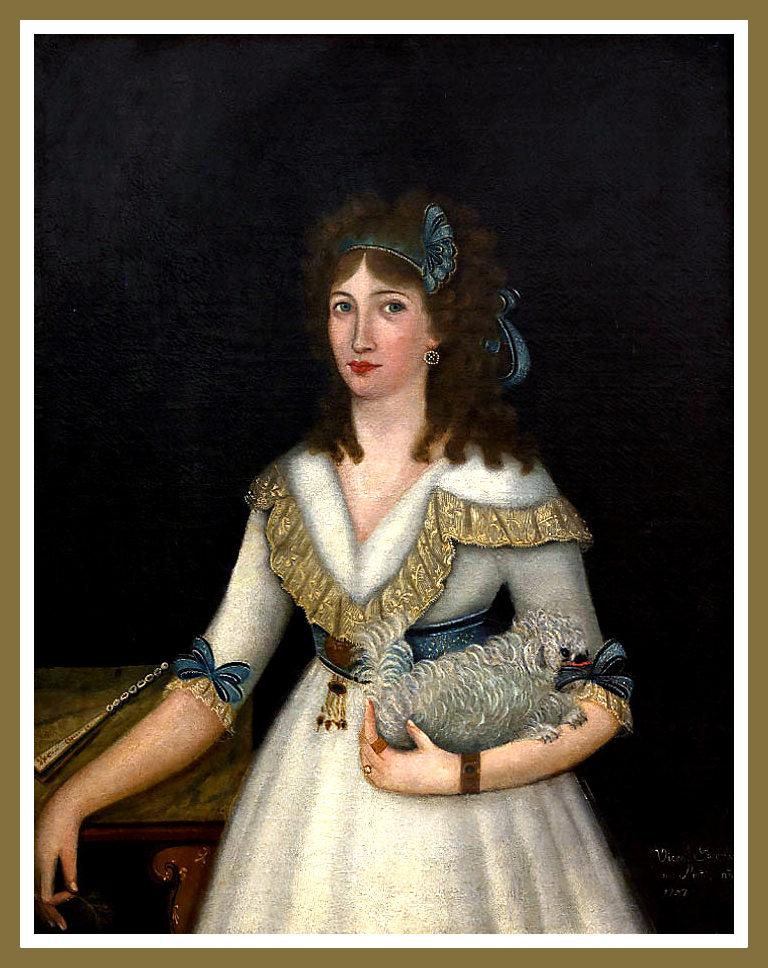 Retrato de una dama joven. Vicente Escobar. 1797.