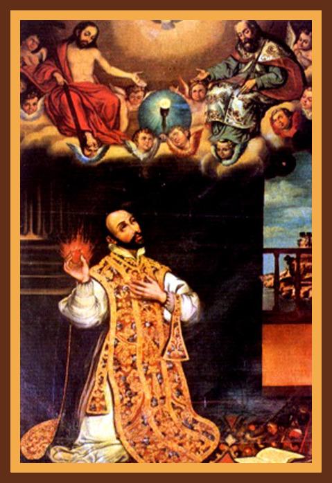 San Francisco Javier predicando. Por el pintor Hernando de La Cruz.