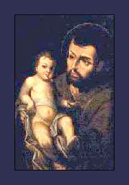 """""""San Jose con el niño"""". por el pintor colombiano. Gregorio Vazquez de Arce."""