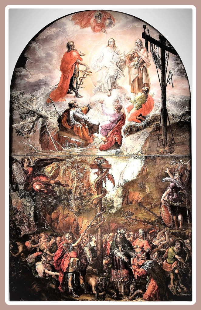 Transfiguration of Jesus. 1683 Cristobal Villalpando.