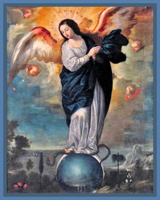 Virgen Alada del Apocalipse. Miguel de Santiago.